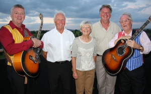 GOOD CAUSE: From left,  Paul Johnston, David Green, Lynda Williams, John Grecic and Norman Prince