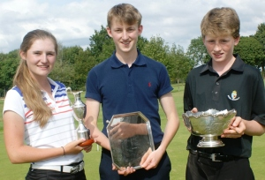 WINNERS: From left, Louisa, George and Edward