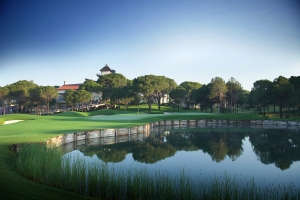 FABULOUS: The ninth hole at Montgomerie